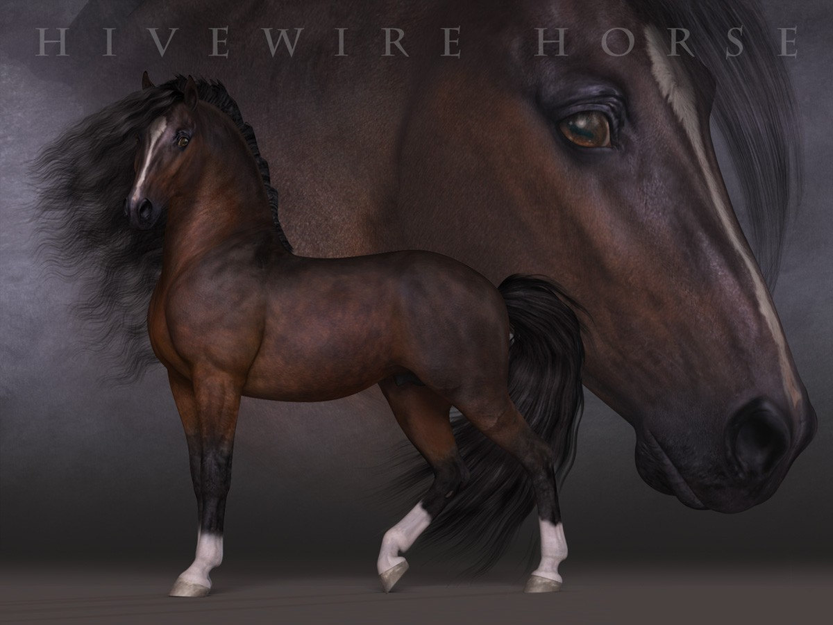 HiveWire 3D Horse Breeds Value Stack - Collect them all and Save!