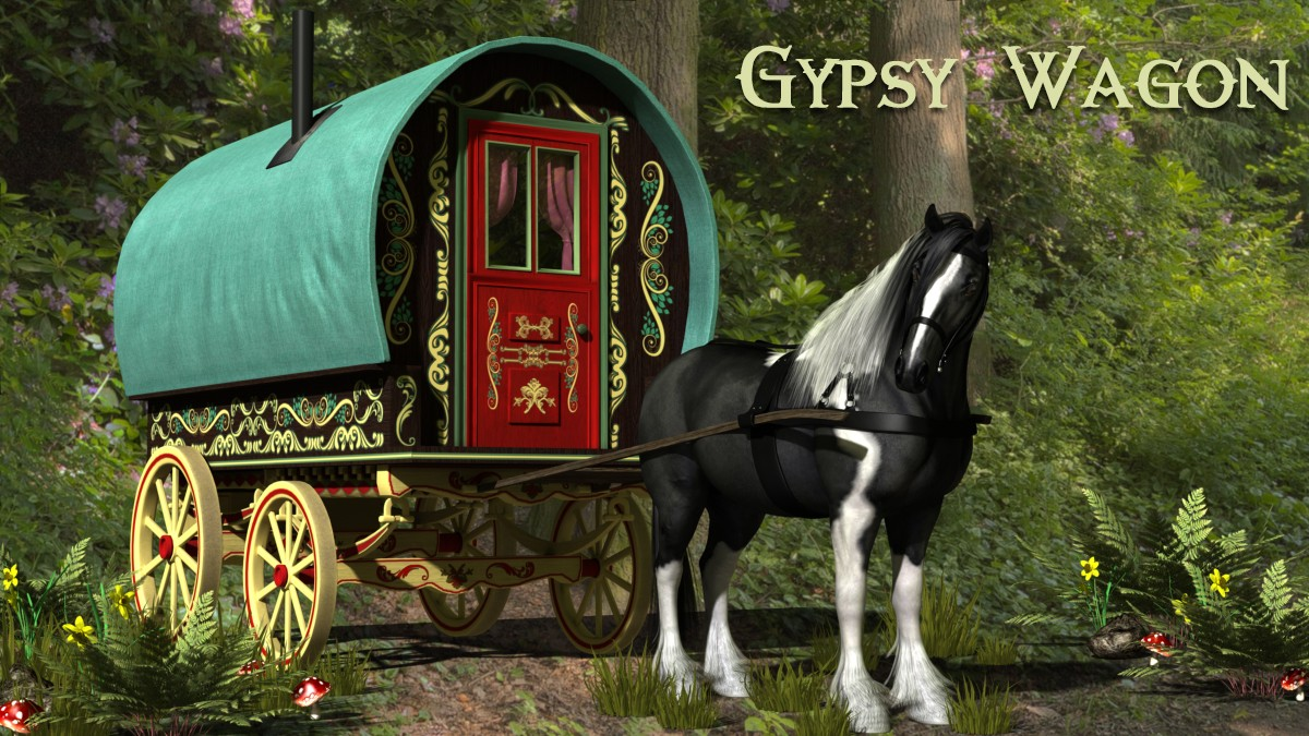 Gypsy Wagon - A Ryverthorn 3D Creation