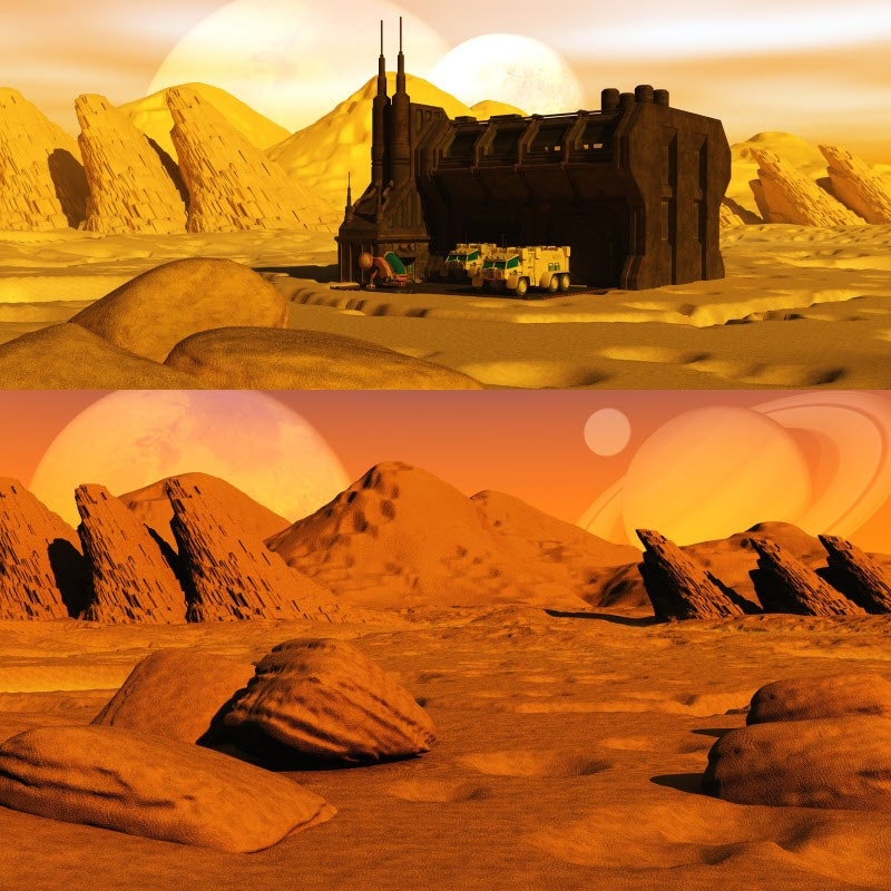 Matte paintings scifi landscapes a 3dtoons creation at for Space matte painting