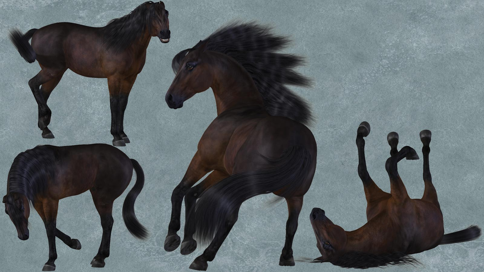 Paddock Poses for the HiveWire Horse - A DreamWeaver Designs ...