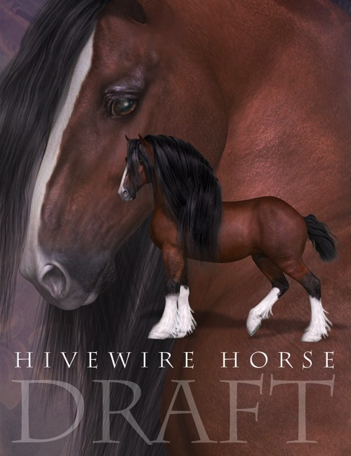 HiveWire Draft Horse - A HiveWire 3D Creation by CGCubed, Christopher Creek Art, and CWRW
