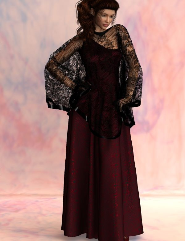 Dynamic Evening Gown and Drape for Dawn