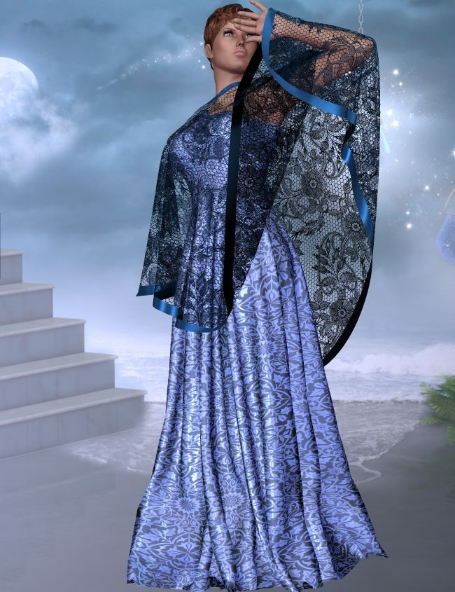 Dynamic Evening Gown and Drape for Victoria 4