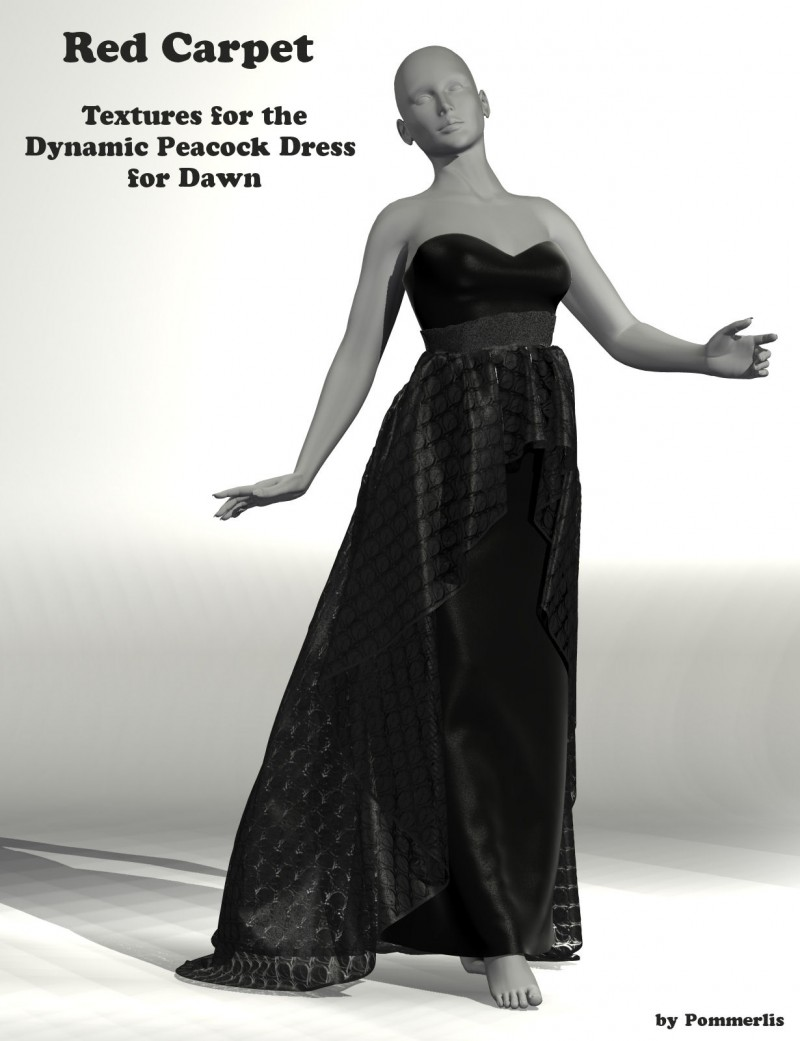 Red Carpet for Dynamics 06 for Dawn - Peacock Dress