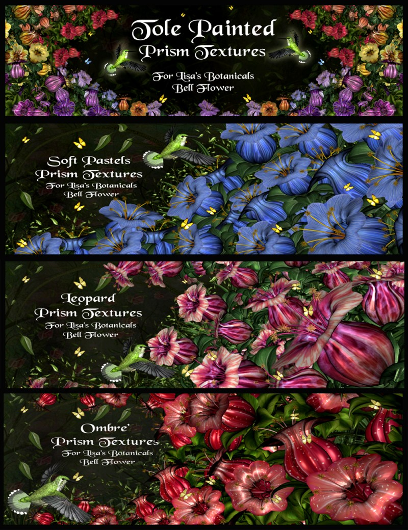 Tole Painted Textures for LB Bell Flower Value Stack