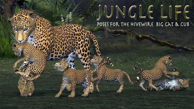 Jungle Life Poses for the HW Big Cat and Cub