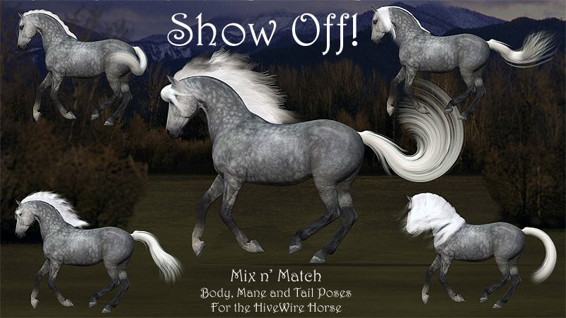 Show Off Poses for the HiveWire Horse