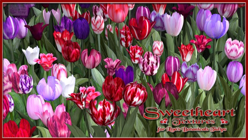 Sweetheart Textures for Lisa's Botanicals Tulips