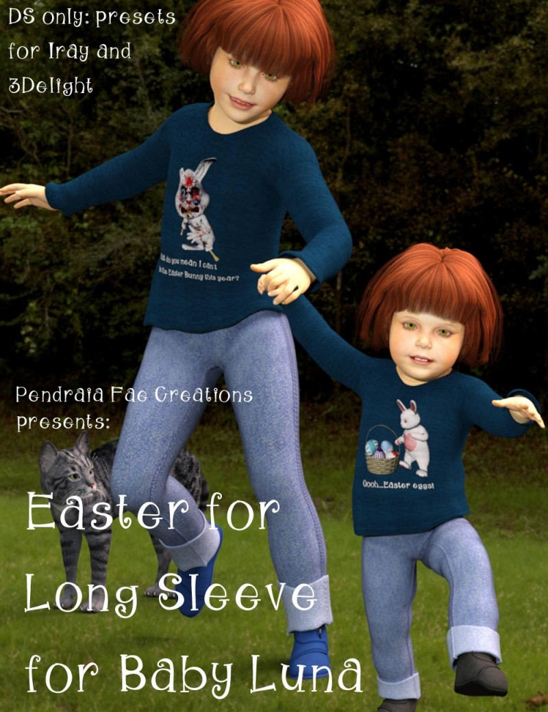 Easter for Longsleeve for Baby Luna