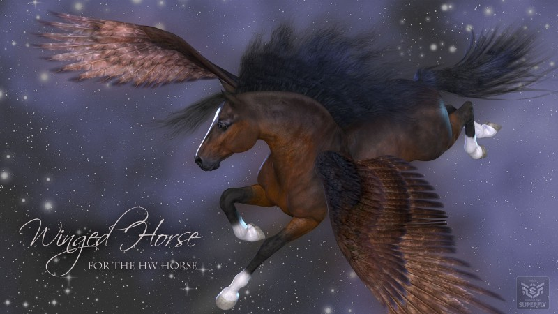 Winged Horse for the HiveWire Horse