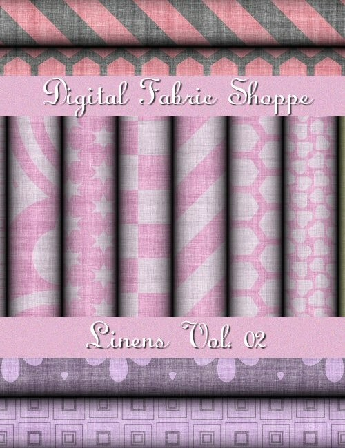 Digital Fabric Shoppe - Linens Vol 02