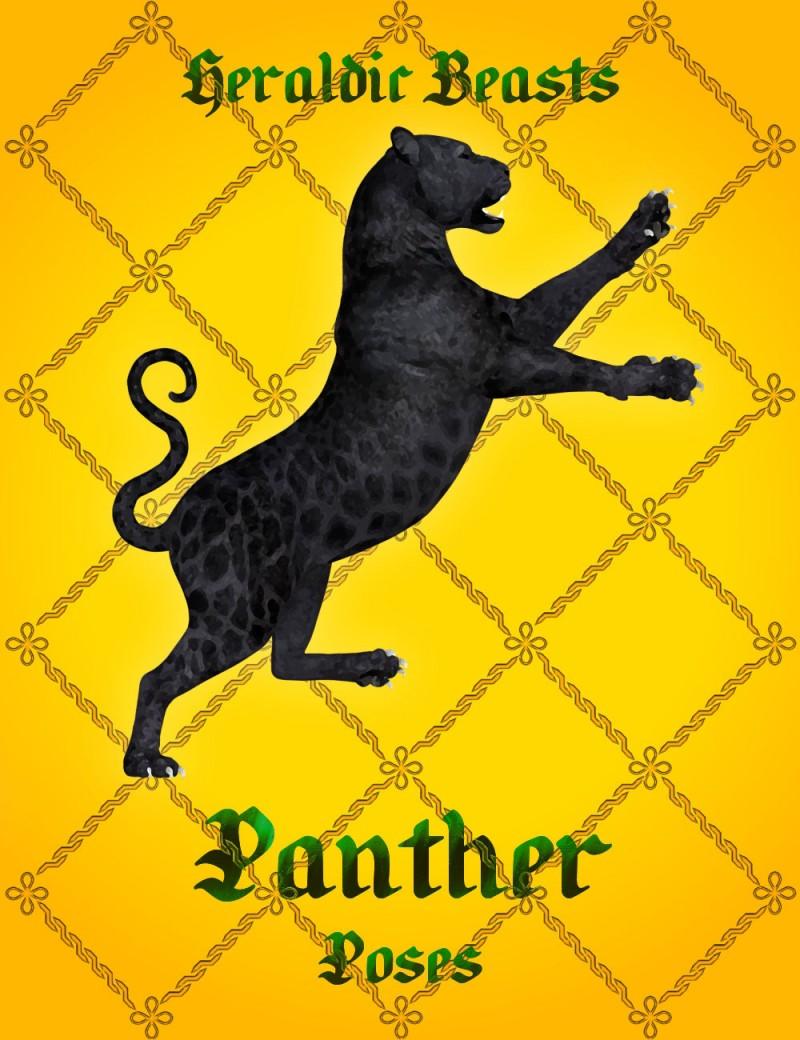 Heraldic Beasts - Panther Poses