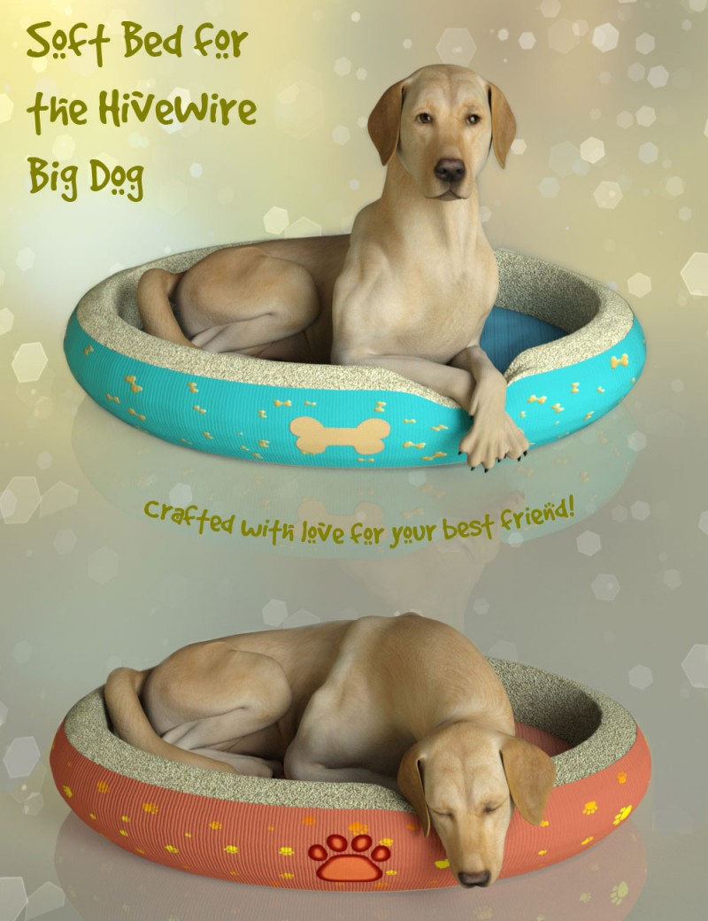 Soft Dog Bed for the HiveWire Big Dog