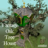 Fantasy Oak Tree House