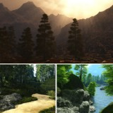 Matte Paintings Summer and Spring Backgrounds