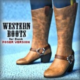 Western Boots for Dusk - Poser