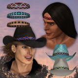 Native American Beadwork for the HW3D Cowboy Hat