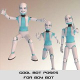 Cool Bot Poses for Boy-Bot