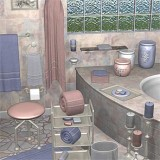 Grigio Rosa for Bathroom  Accessories