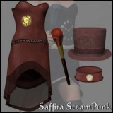 Saffira Steampunk Outfit for Dawn and Pauline 2