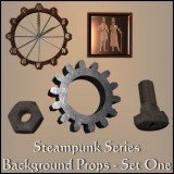 Steampunk Props Set 1