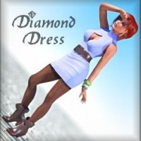 Diamond Dress for Dawn (Poser)