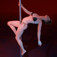 Pole Dance Poses for Dawn