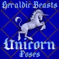 Heraldic Beasts - Unicorn Poses