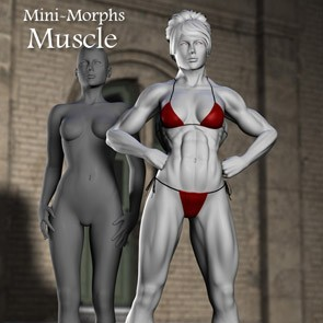 Mini Morphs - Muscle (DAZ Studio)
