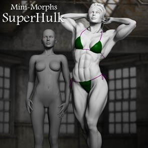 Mini Morphs - SuperHulk (DAZ Studio)