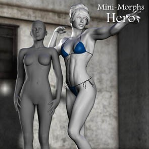 Mini Morphs - Hero (DAZ Studio)