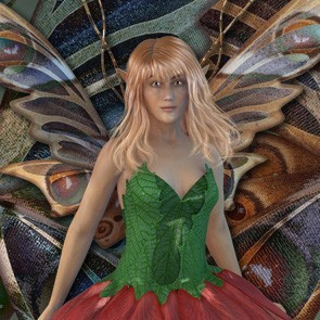 Flower Fairy Wings (Poser)