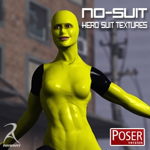 The No-Suit Latex Hero Textures (Poser)