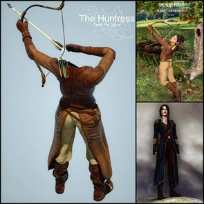 The Huntress for Dawn Stack (Poser)