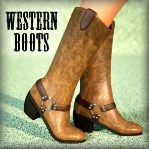 Western Boots for Dawn - Poser