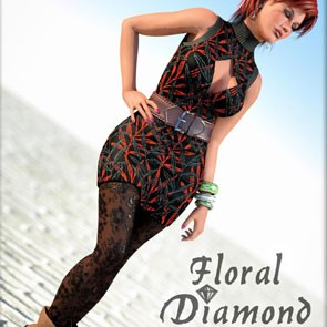 Floral Diamond Expansion Pack (Poser)