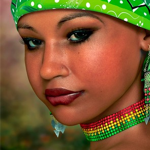 The Face of Africa Skin Set 1 for Dawn (Poser)