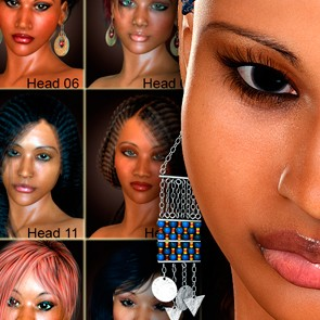The Face of Africa Starter Head Presets for Dawn