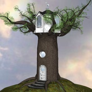 Alien World for Fantasy Oak Tree House