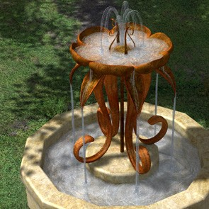 Flower Fountain and Bird Bath