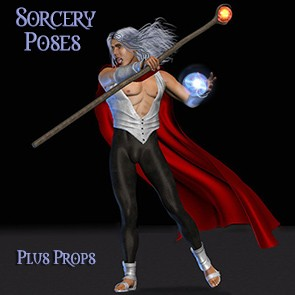 Sorcerer Poses and Props for Dusk