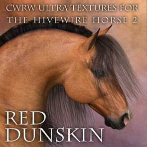 CWRW Ultra Textures for the HW Horse Pack 2 Mini-Set - Red Dunskin