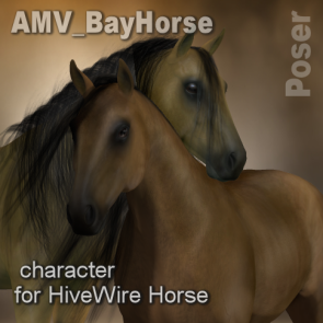AMV BayHorse for the HiveWire Horse - Poser