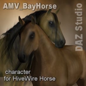 AMV BayHorse for the HiveWire Horse - DAZ Studio