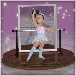 Sugar Plum for Baby Luna - Poses and Mirror Prop