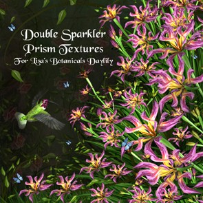 Double Sparkler Prism Textures for Lisa's Botanicals Daylily