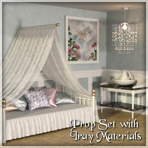 Daybed Prop Set - DAZ Studio