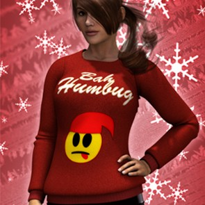 Bah Humbug Xmas Sweatshirt for Dawn