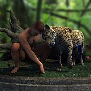 Paired Poses - HiveWire Big Cat with Dusk