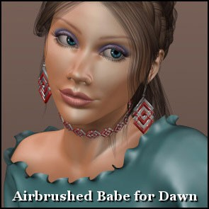 Airbrushed Babe for Dawn